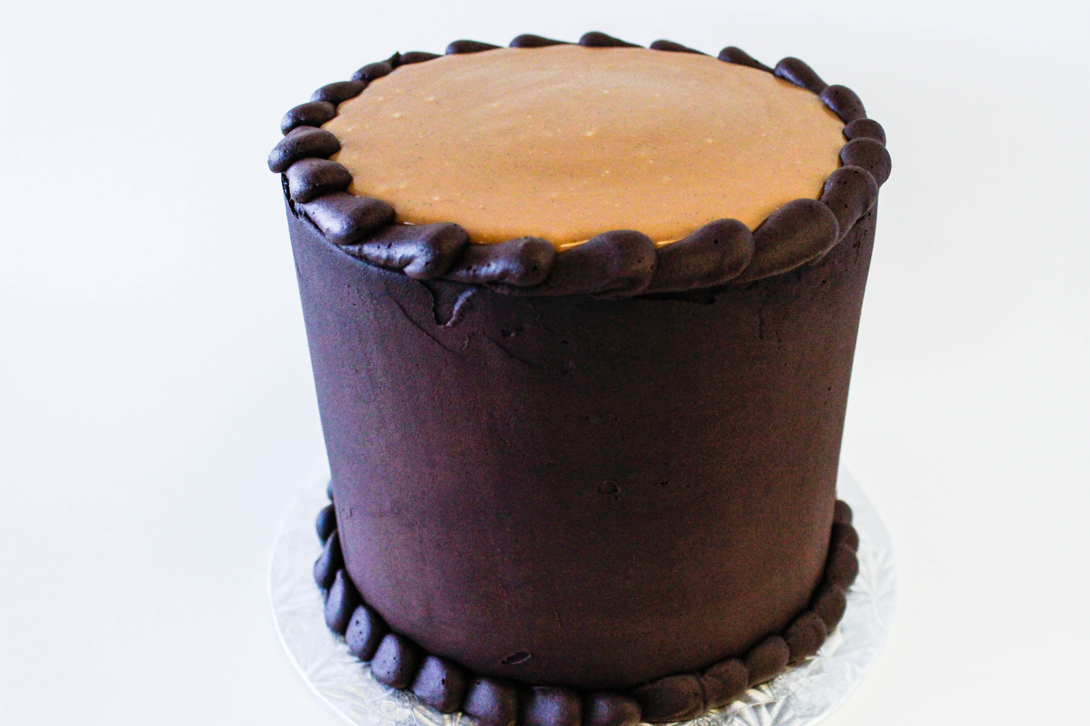 Dark Chocolate Salted Caramel Cake