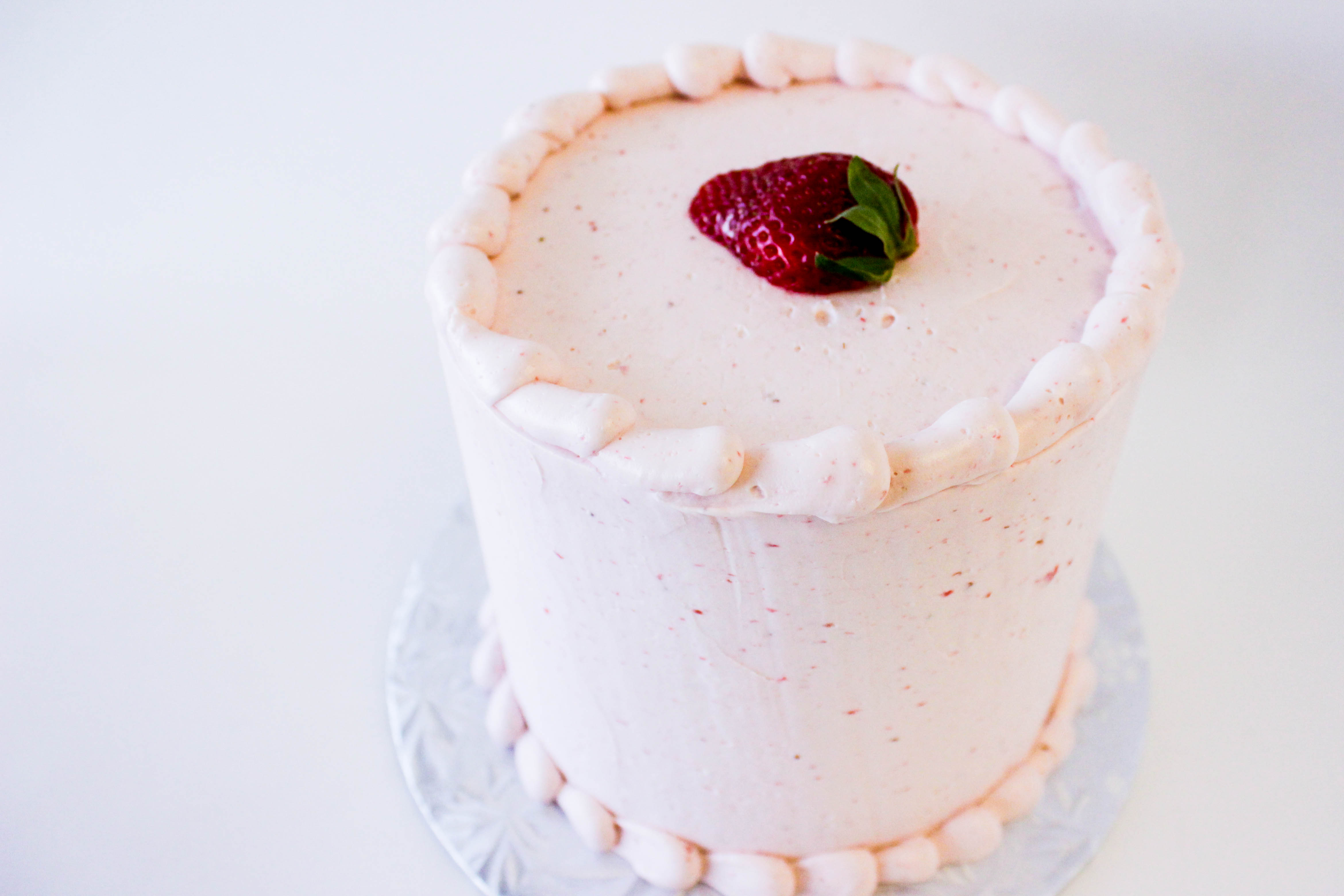 Strawberry Silk Cake