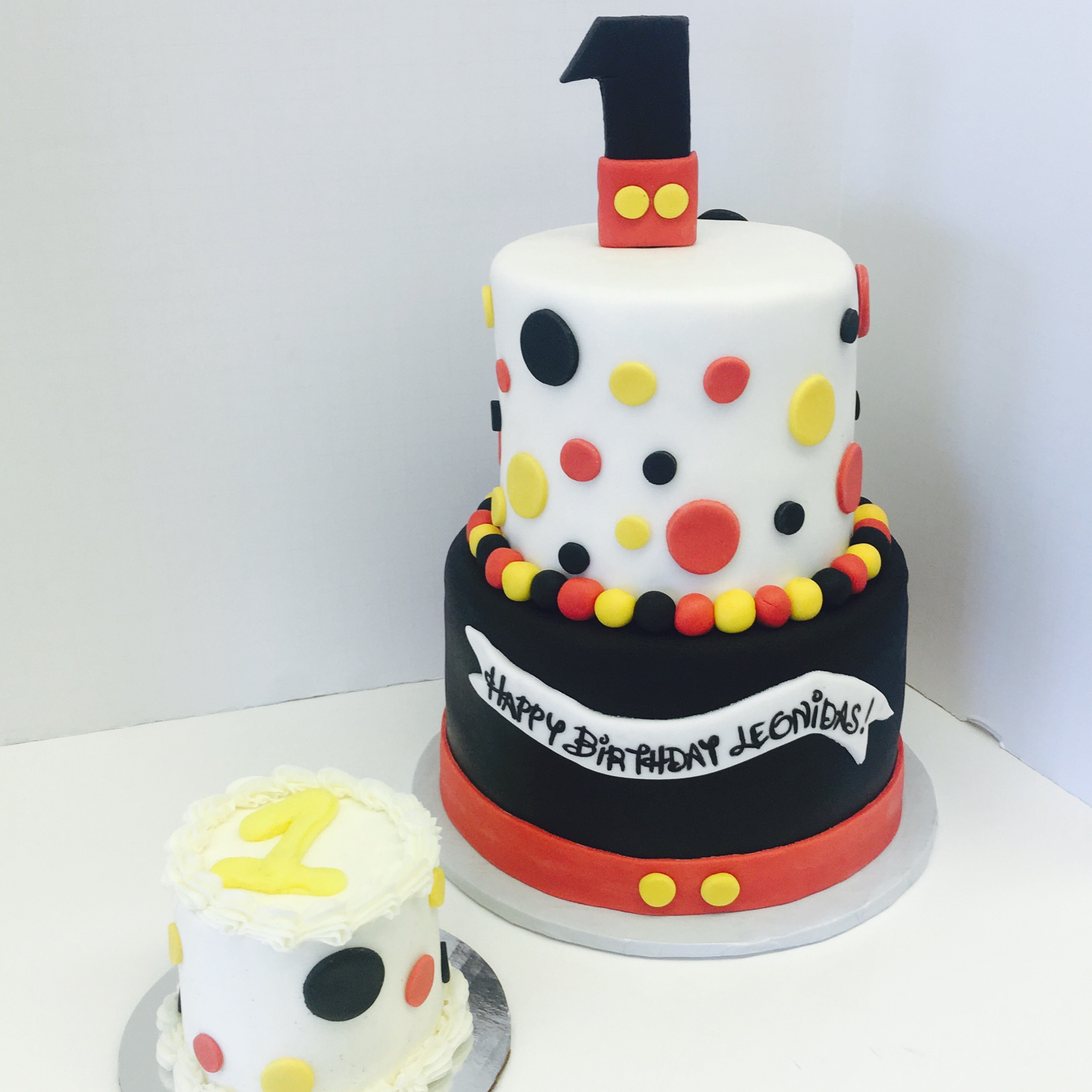 Mickey Mouse Inspired Birthday Cakes