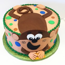 Monkeying Around Birthday Cake